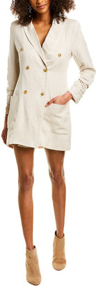 Astr The Label Verona Linen-Blend Coat Dress