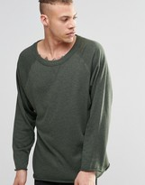 Weekday Goliath Crew Sweatshirt Raw Hem