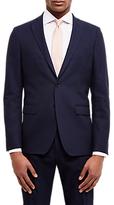 Jaeger Dobby Basketweave Slim Fit Suit Jacket, Navy