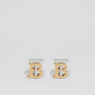Burberry Monogram Motif Gold and Palladium-plated Cufflinks