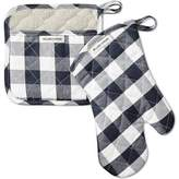 Williams-Sonoma Williams Sonoma Checkered Oven Mitt & Potholder Set, Navy