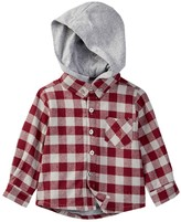 Andy & Evan Checker Hooded Flannel (Baby Boys)