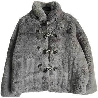 Golden Goose Grey Faux fur Coats