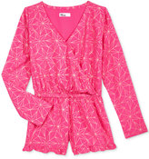 Epic Threads Long-Sleeve Geo-Print Romper, Big Girls (7-16), Only at Macy's