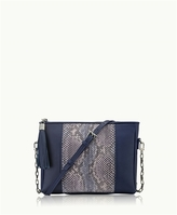 GiGi New York Hailey Crossbody Blue-Multi Genuine Anaconda