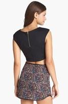 Lush Tweed Print Miniskirt (Juniors) (Online Only)