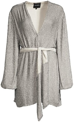 retrofete Gabrielle Sequined Wrap Robe