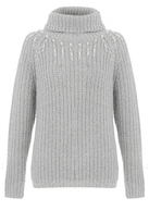 Quiz Grey Pearl Drop Knit Jumper