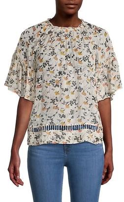 Joie Floral-Print Silk Top