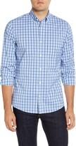 Nordstrom Mens Shop Tech-Smart Trim Fit Check Button-Down Sport Shirt
