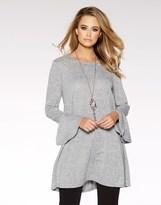 Quiz Frill Sleeve Tunic Dress