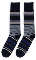 Paul Smith 'Lawn' stripe intarsia socks