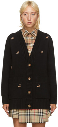 Burberry Black Wool Fawn Cardigan