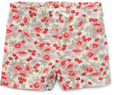 Ralph Lauren Floral Linen-Blend Drawstring Shorts, Pink, Size 5-6X