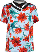 Suno Floral-print silk top