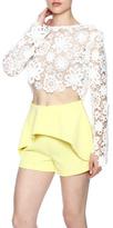 Gracia White Lace Crop