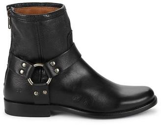 Frye Back-Zip Leather Booties