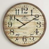 Cost Plus World Market Norah Gray Wash Wood Clock