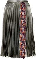 Versace pleated midi skirt