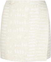 Proenza Schouler Cotton-blend bouclé wrap mini skirt