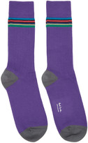 Paul Smith Purple Double Rib Socks