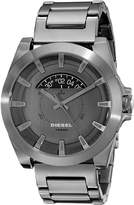 Diesel SPRING 2015 dz1692 46mm Black Steel Bracelet & Case Mineral Men's Watch