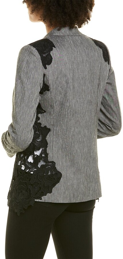 Thumbnail for your product : Elie Tahari Lace Linen-Blend Blazer