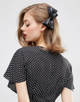 Asos Limited Edition Faux Leather Bow Hair Barrette