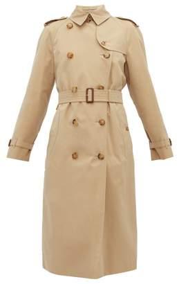 Burberry The Waterloo Cotton Gabardine Trench Coat - Womens - Beige