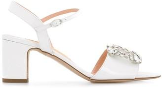 Rupert Sanderson Crystal Embellished Sandals