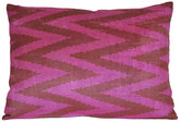 Orientalist Home Nava Ikat 16x24 Pillow - Pink pink/multi