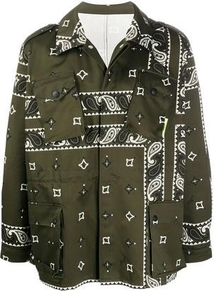 MSGM Bandana-Print Shirt Jacket