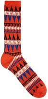 Anonymous Ism Blue Zigzag Cotton Blend Socks