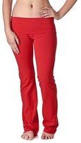 Hollywood Star Fashion Women's Slimming Foldover Bootleg Flare Yoga Pants (3XL, )