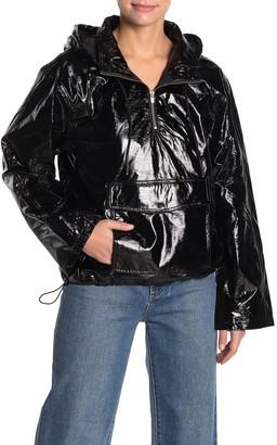 LPA Delaney Patent Faux Leather Jacket
