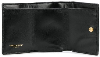 Saint Laurent Small Quilted Tri-Fold Wallet