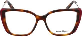 Salvatore Ferragamo Eyewear Square Shape Glasses
