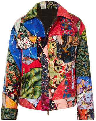 Rosie Assoulin Reversible Printed Cotton-velvet Jacket