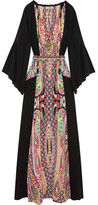 Etro Printed Silk Crepe De Chine Gown - Black