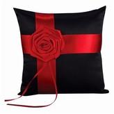 Hortense B. Hewitt Midnight Rose Wedding Collection Ring Bearer Pillow - Black