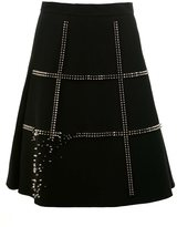 Comme des Garcons studded A-line skirt - women - Polyester/Cupro - S