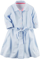 Carter's Striped Poplin Shirt Dress
