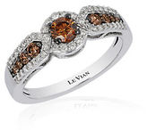 LeVian Chocolatier Chocolate Diamond, Vanilla Diamond and 14K Vanilla Gold Ring