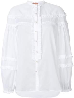 No.21 ruffle trim shirt