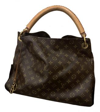 Louis Vuitton Artsy Brown Cloth Handbags