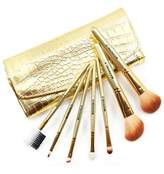 JMT Professional Makeup Tools 7pcs Cosmetic Kit Gold Makeup Brushes Set Make-up Toiletry Kit with Bag Best Gift