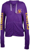 5th & Ocean Women's Los Angeles Lakers Sweater Knit Full-Zip Hoodie