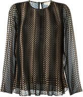 MICHAEL Michael Kors dot print longsleeved blouse