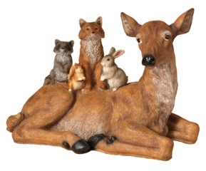Sterling Resin Doe and Woodland Friends Figurine