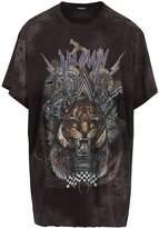 Balmain Imprimé tigre-print distressed cotton T-shirt